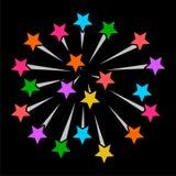 Значок знака ракет фейерверков Стоковое Изображение RF