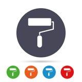 Значок знака ролика краски Символ инструмента картины Стоковые Изображения RF