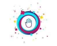 Значок знака руки Отсутствие символа входа или стопа бесплатная иллюстрация