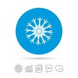 Значок знака снежинки художнический Кондиционер Стоковые Фотографии RF