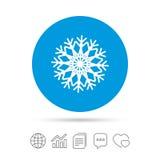 Значок знака снежинки художнический Кондиционер Стоковые Фото