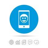 Значок знака стороны улыбки Selfie Символ фото собственной личности иллюстрация вектора