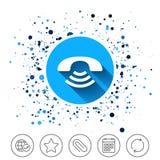 Значок знака телефона Символ поддержки Стоковая Фотография