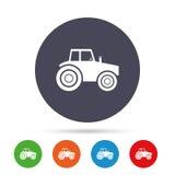 Значок знака трактора Аграрный символ индустрии Стоковые Фотографии RF