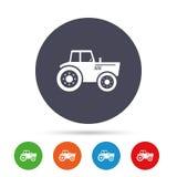 Значок знака трактора Аграрный символ индустрии Стоковые Изображения