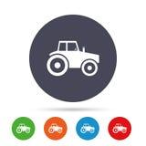 Значок знака трактора Аграрный символ индустрии Стоковые Изображения RF