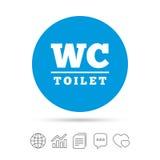 Значок знака туалета WC Символ уборного Стоковая Фотография RF