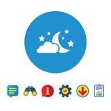 Значок знака луны, облаков и звезд мечтает символ Стоковое Фото