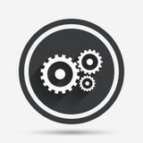 Значок знака установок Cog Символ шестерни Cogwheel Стоковая Фотография