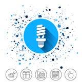 Значок знака шарика люминесцентной лампы сбережениа иллюстрации энергии славные мягкие бесплатная иллюстрация