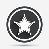 Значок знака шерифа звезды Полиция застегивает бесплатная иллюстрация