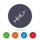 Значок знака шприца символ микстуры предпосылки зеленый tablets белизна иллюстрация штока