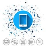 Значок знака Smartphone Символ поддержки Стоковые Фото