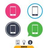 Значок знака Smartphone Символ поддержки Стоковые Изображения RF