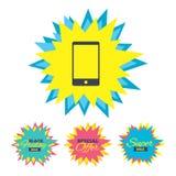 Значок знака Smartphone Символ поддержки Стоковые Фотографии RF