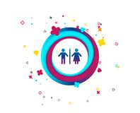 Значок знака WC Символ туалета бесплатная иллюстрация