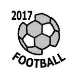 Значок знамени футбола Стоковые Изображения RF