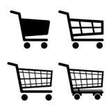 Значок значка магазинной тележкаи установленный изолированный на белой предпосылке также вектор иллюстрации притяжки corel иллюстрация штока