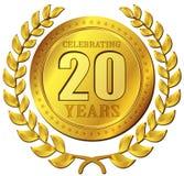 Значок золота торжества годовщины Стоковое Изображение RF