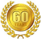 Значок золота торжества годовщины Стоковая Фотография