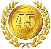 Значок золота торжества годовщины Стоковые Изображения RF