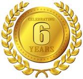 Значок золота торжества годовщины Стоковое фото RF