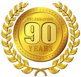 Значок золота торжества годовщины Стоковое Фото