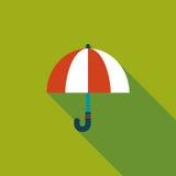 Значок зонтика плоский с длинной тенью Стоковые Фото