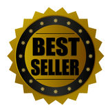Значок золота самого лучшего продавца Стоковые Изображения