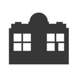 Значок здания завода Дизайн индустрии по мере того как вектор свирли предпосылки декоративный графический стилизованный развевает Стоковое Изображение RF