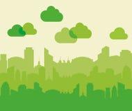 Значок здания и башни Дизайн города по мере того как вектор свирли предпосылки декоративный графический стилизованный развевает Стоковое Изображение