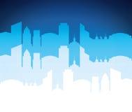 Значок здания и башни Дизайн города по мере того как вектор свирли предпосылки декоративный графический стилизованный развевает Стоковые Фотографии RF