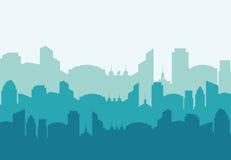 Значок здания и башни Дизайн города по мере того как вектор свирли предпосылки декоративный графический стилизованный развевает Стоковые Фото