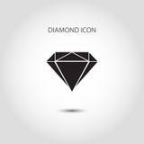 Значок диаманта Стоковое Изображение RF