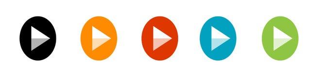 Значок игры, значок кнопки игры и символ мультимедиа бесплатная иллюстрация