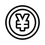 Значок иен иллюстрация штока