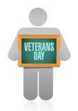значок дизайна иллюстрации знака доски дня ветеранов иллюстрация штока