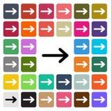 Значок дизайна современной стрелки вектора плоский установил в кнопку Стоковые Изображения RF