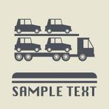 Значок или знак транспорта автомобиля иллюстрация вектора