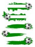 Значок или знамя футбольного мяча футбола вектора Стоковые Фото