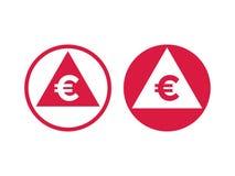 Значок индекса увеличения уменшения евро себестоимоста иллюстрация штока