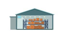 Значок интерьера склада Стоковая Фотография