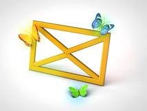 Значок информационого бюллетеня или почты Стоковое Изображение