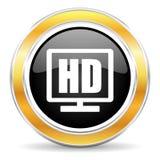 значок дисплея hd Стоковое Изображение
