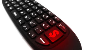 Значок дистанционного управления и денег клавиатуры стоковые изображения