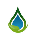 Значок лист воды падения Стоковое Изображение