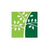 Значок лист дерева ранчо Стоковые Изображения