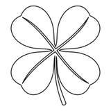 Значок лист клевера 4 лист, стиль плана Стоковые Фотографии RF