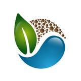 Значок лист Eco Стоковая Фотография RF