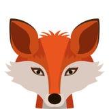 Значок лисы шаржа иллюстрация вектора